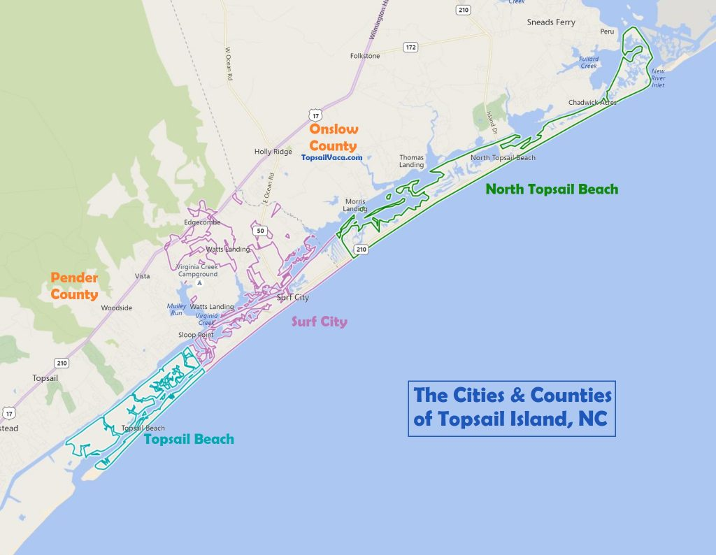 The Difference Between Topsail Beach vs Surf City vs North Topsail
